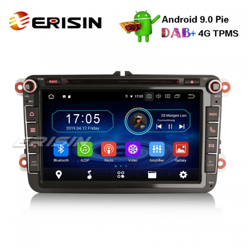 "Erisin ES8985V 8"" Android 9.0 Pie DAB+ DVD Car Stereo GPS for VW Golf Passat Tiguan Polo Seat"