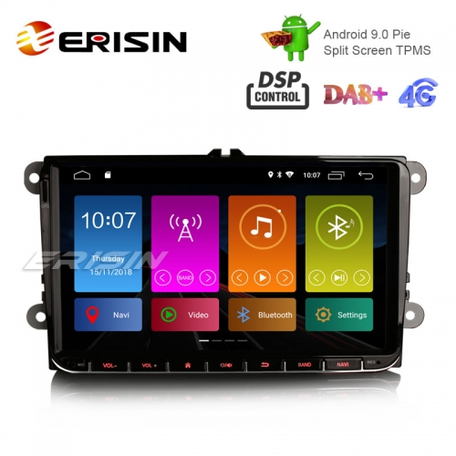 "Erisin ES2901V 9"" Android 9.0 Car Stereo DAB+ GPS DSP for VW Passat Golf 5 Tiguan T5 Polo Jetta"