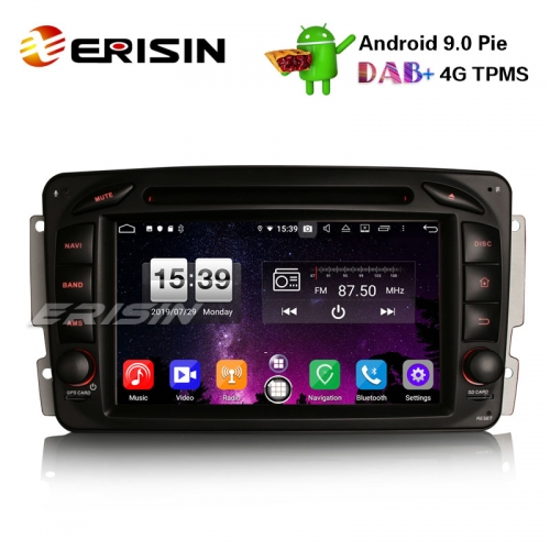 "Erisin ES7716C 7"" 8-Core DAB+ Android 9.0 Car Stereo Sat GPS Navi for Mercedes BENZ C/CLK/G Class Vito Viano"