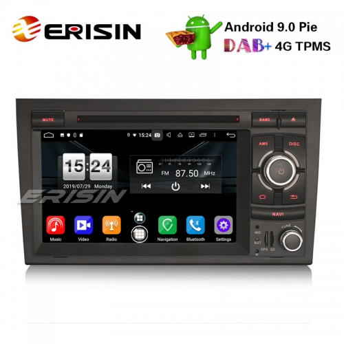 "Erisin ES7738A 7"" Android 9.0 Car DVD Stereo DAB+ 4G GPS Sat Nav for Audi A4 S4 RS4 Seat Exeo"