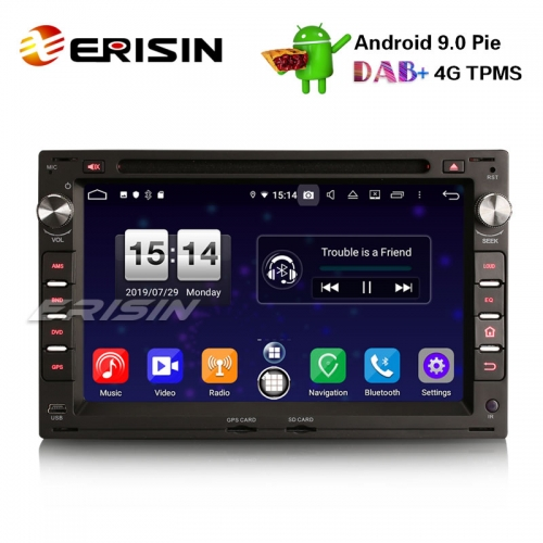 "Erisin ES7709V 7"" DAB+ Android 9.0 Car Stereo GPS DVD Player for VW Golf Passat Polo T5 Multivan Jetta Peugeot"