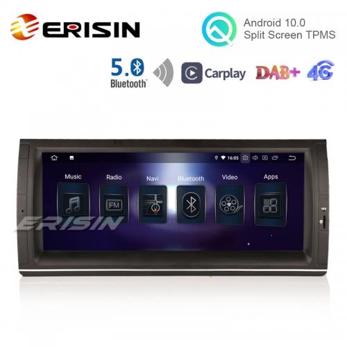 "Erisin ES5153BN 10.25"" Android 10.0 Car Multimedia GPS BT5.0 Radio CarPlay TPMS DAB+ for BMW E53 E39 M5"