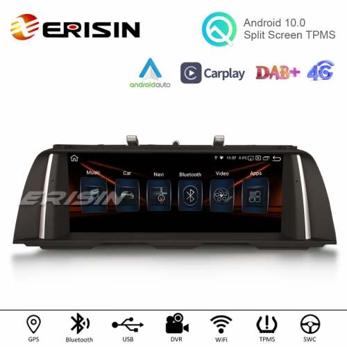 "Erisin ES2810B 10.25"" HD IPS-Screen Android 10.0 Auto Radio WiFi TPMS DVR Carplay Car GPS For BMW F10/F11 CIC NBT"