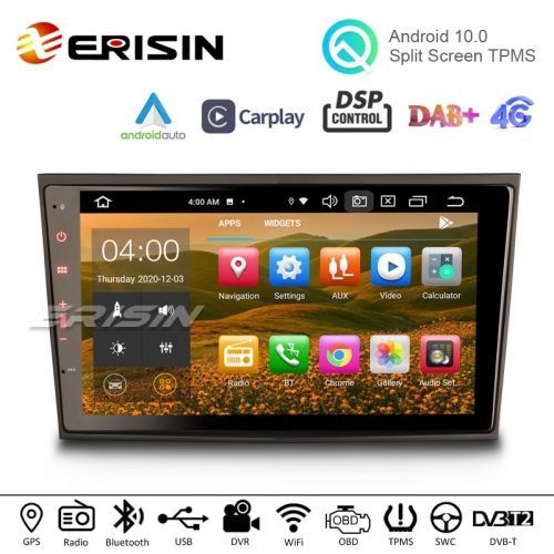 "Erisin ES8106P 8"" 8-Core Android 10 Car Stereo CarPlay BT WiFi DSP DAB+ Navi For Opel Vauxhall Corsa Combo Zafira Vectra Meriva Vivaro"